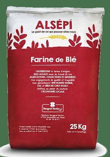 Sac de farine de blé Alsépi 25 kg